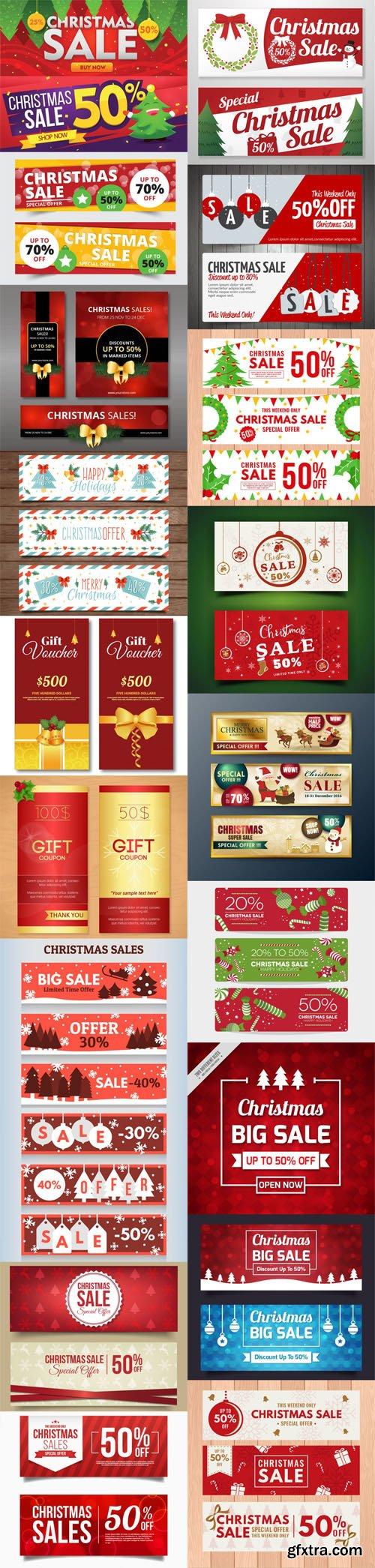 Holiday & Christmas Sales Vector Bundle 5