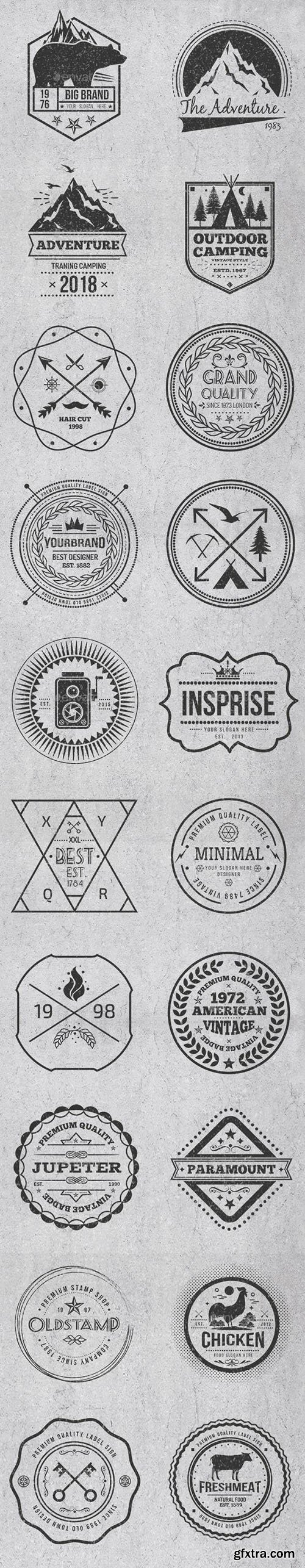 Vintage Style Badges and Logos Vol 4 17514983
