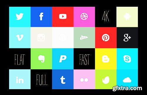 Videohive Social Flat 16073602