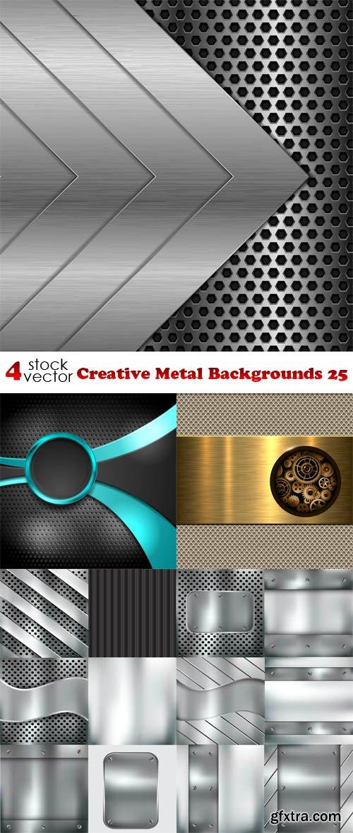 Vectors - Creative Metal Backgrounds 25