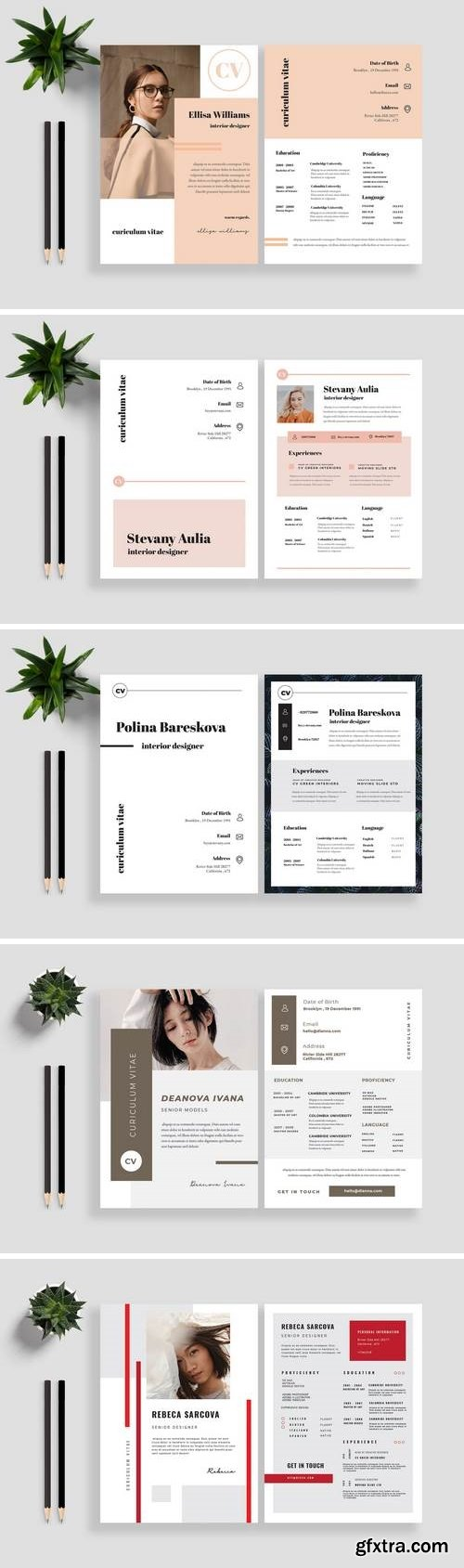 Clean Resume / CV Template Bundle