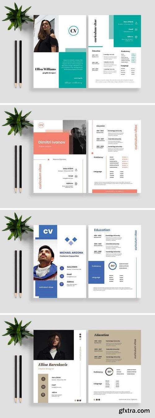 Clean Resume / CV Template Bundle 2