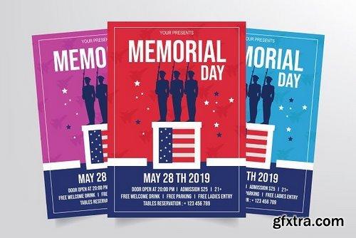 CM - Memorial Day Flyer Template 3291007