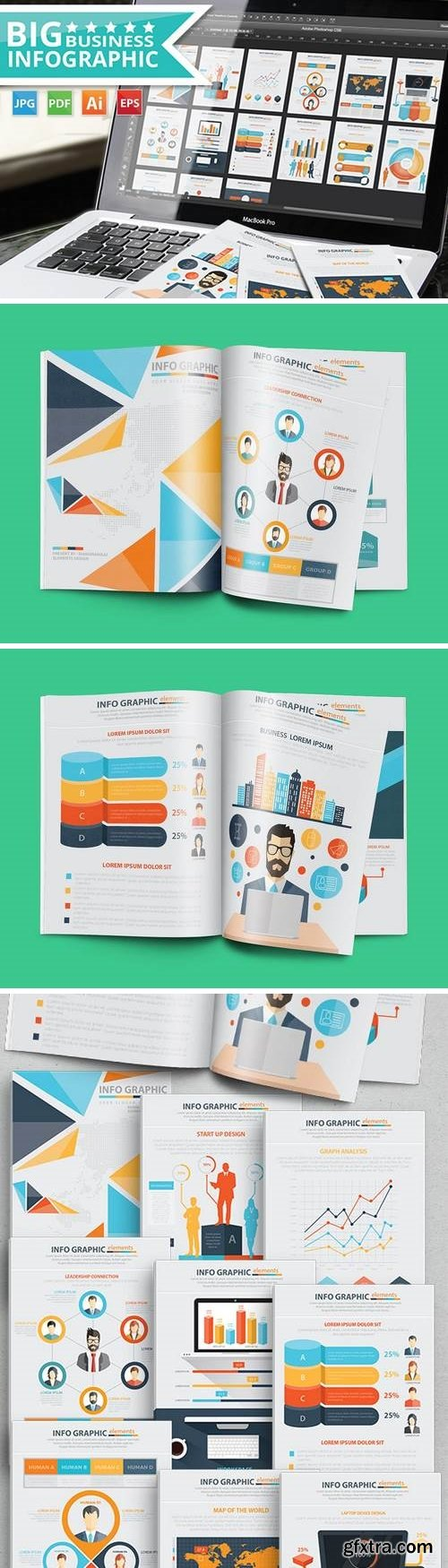 Business Infographics 17 Pages Design