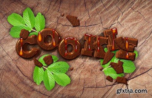 Graphicriver Designer Essentials Ultra Realistic Cookie Text Effect Vol.14 21072309