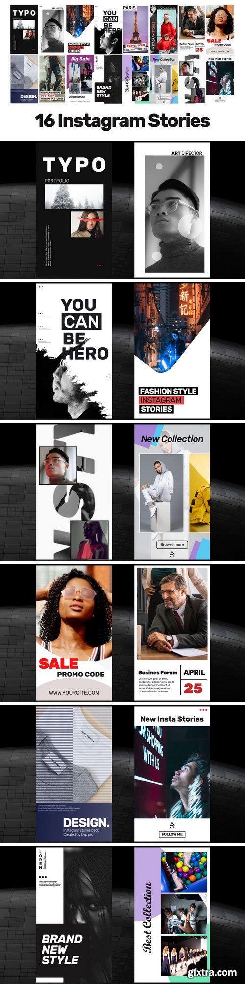 MA - 16 Instagram Stories V.2 After Effects Templates 151829