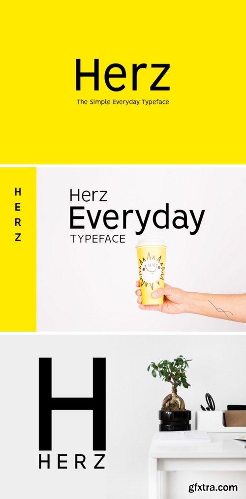 CM - HERZ - Simple Sans Serif Typeface 2682666