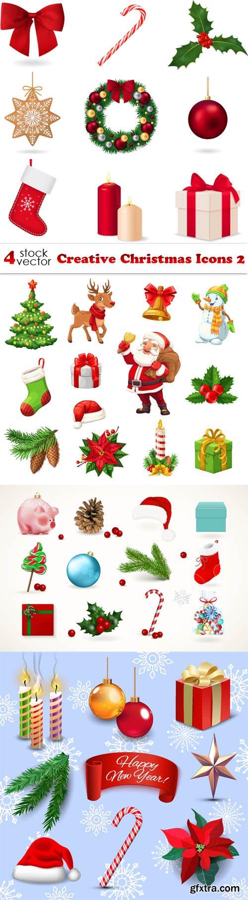Vectors - Creative Christmas Icons 2