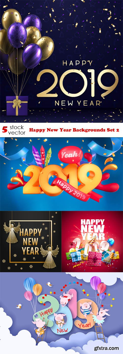 Vectors - Happy New Year Backgrounds Set 2