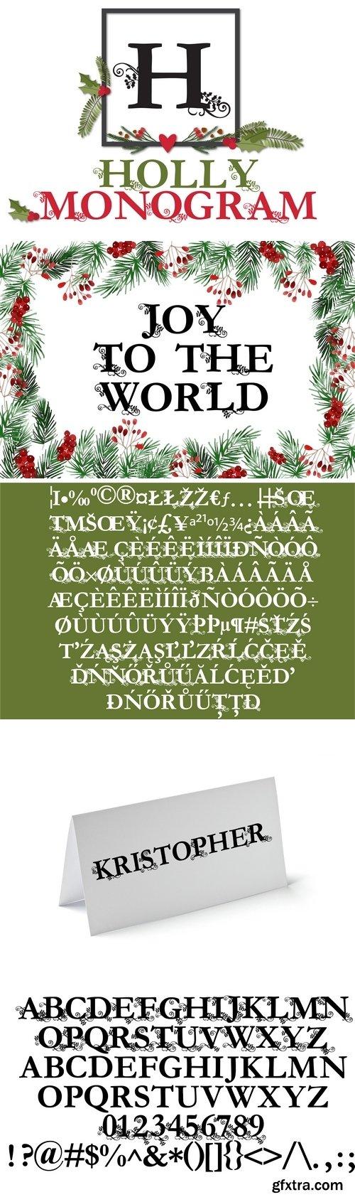Fontbundles - PN Holly Monogram 182400