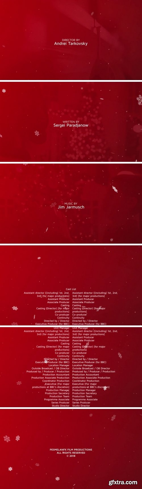 MA - Snow Film Credit After Effects Templates 152022