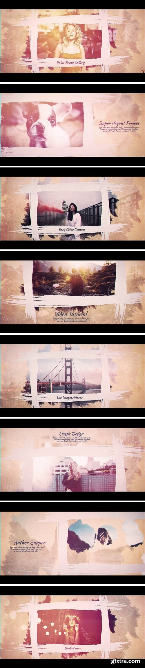 MA -  Brush Paint Gallery After Effects Templates 152099
