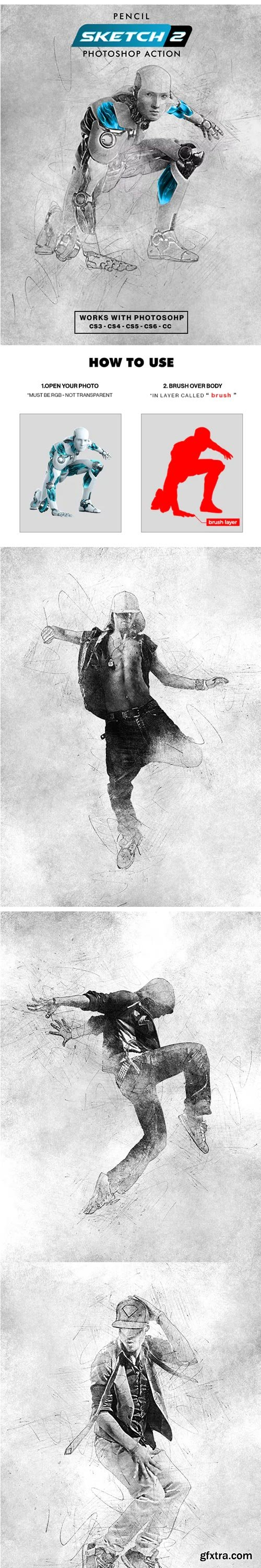 GraphicRiver - Pencil Sketch 2 Photoshop Action - 22727861
