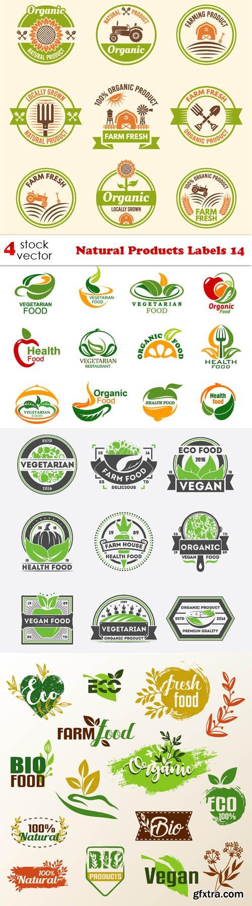 Vectors - Natural Products Labels 14