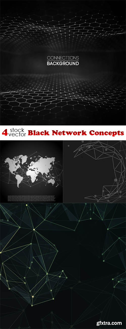 Vectors - Black Network Concepts