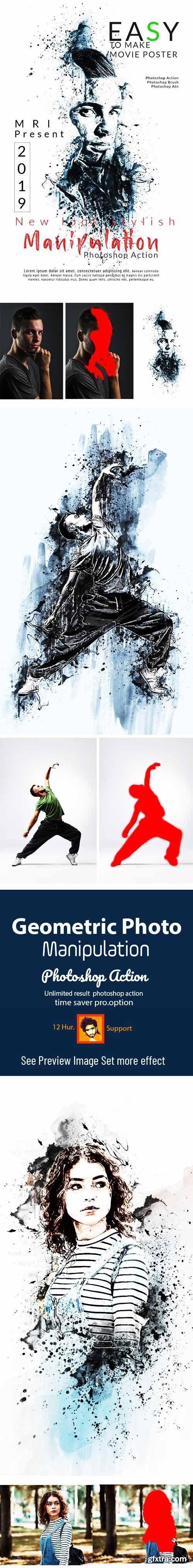 Graphicriver Ink Manipulation Photoshop Action 23025536