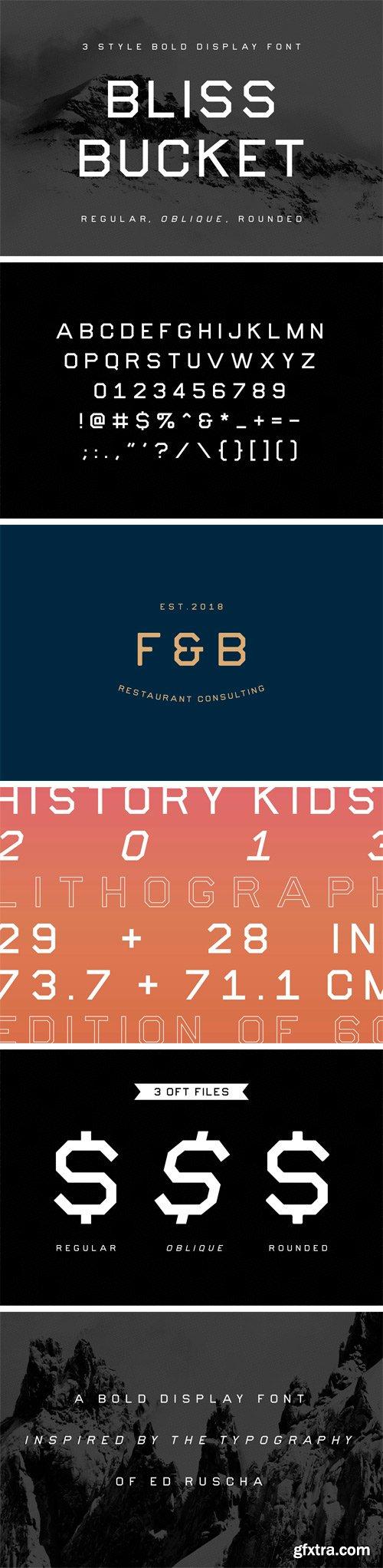 CM - Bliss Bucket – Bold 3 Font Family 2711799