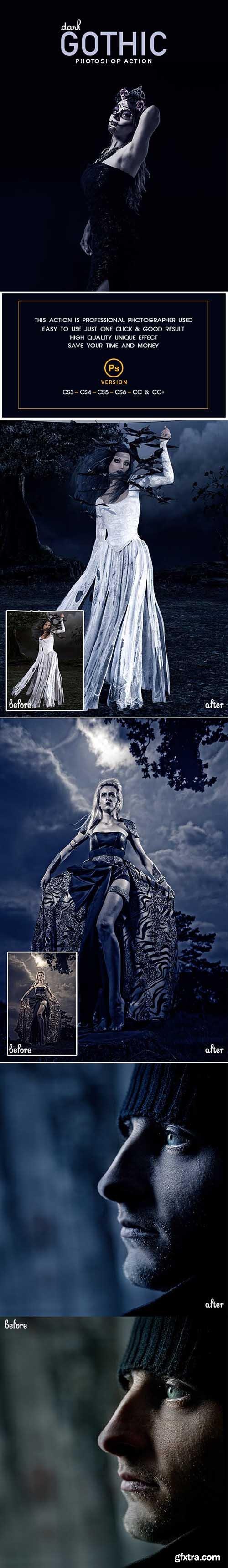 Graphicriver Dark Gothic Photoshop Action 23030478