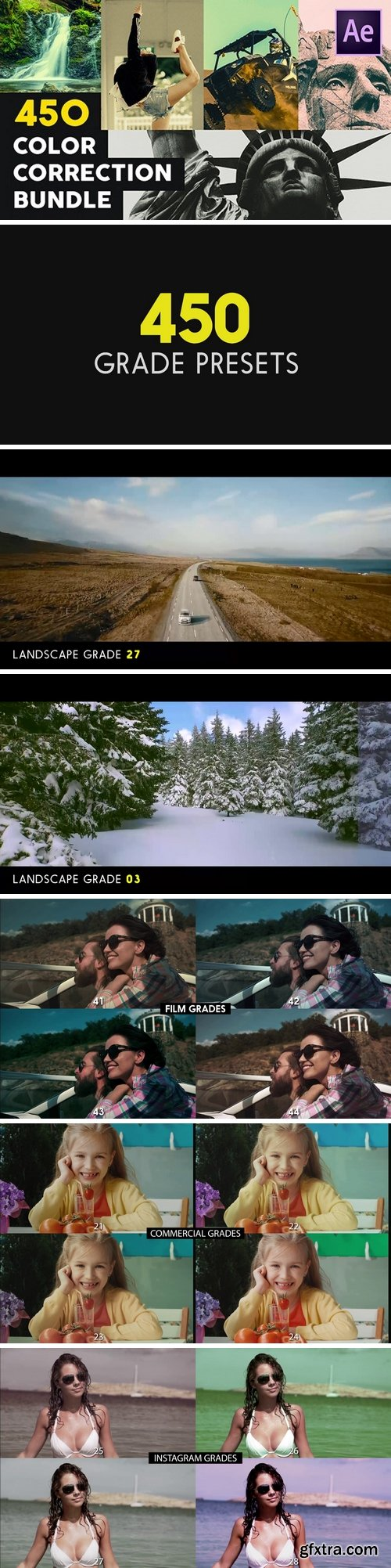 MA - 450 Color Correction Bundle After Effects Presets 141934