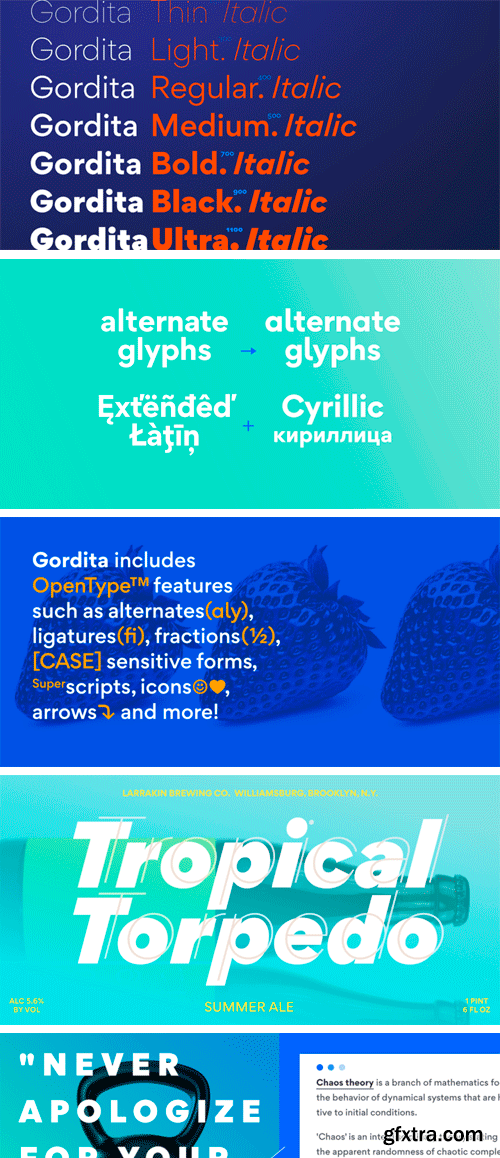 Gordita Font Family (Updated)
