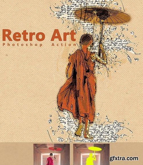 GraphicRiver - Retro Art Photoshop Action 20371783