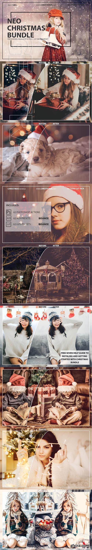 Neo Christmas Theme Bundle Color Grading photoshop action,ACR,LUT