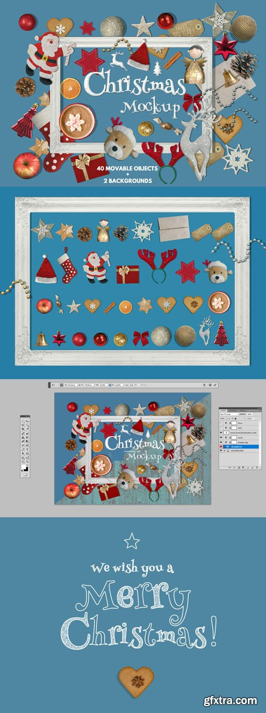 Christmas Scene Creator PSD Mockup