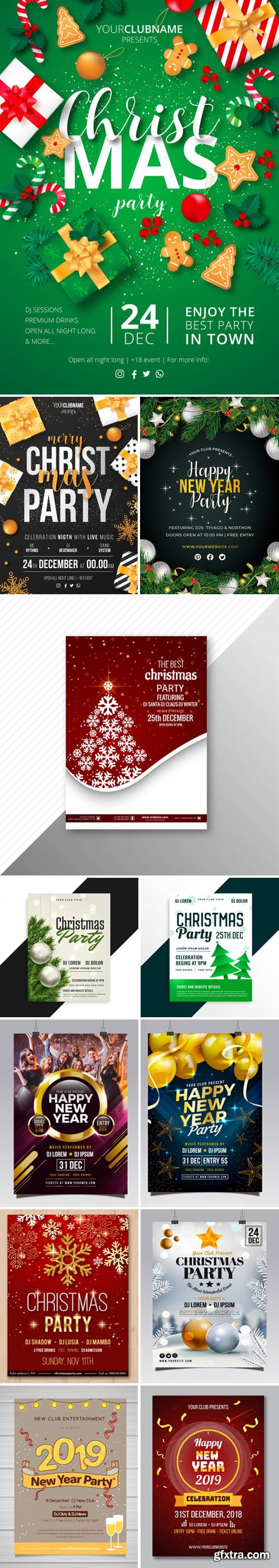 Christmas & New Year Flyers & Posters Collection 3