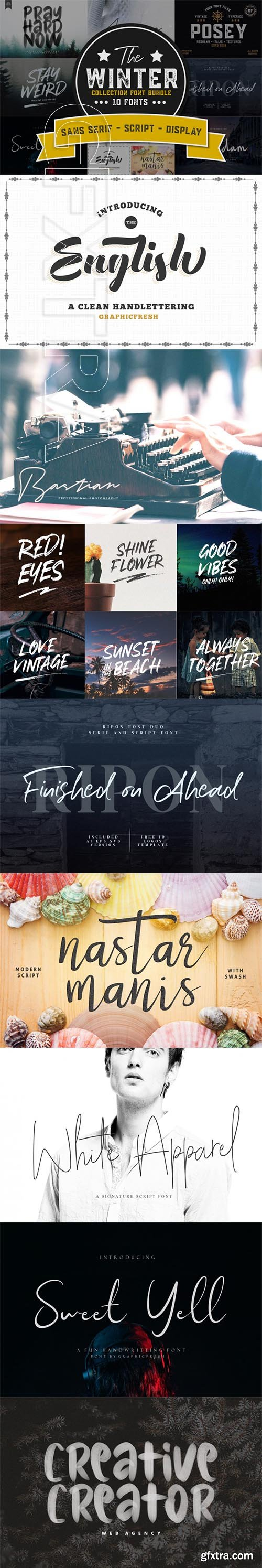 The Winter Collection Fonts Bundle