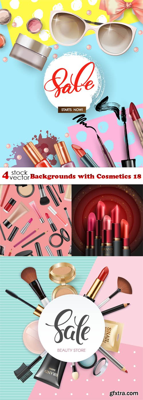 Vectors - Backgrounds with Cosmetics 18