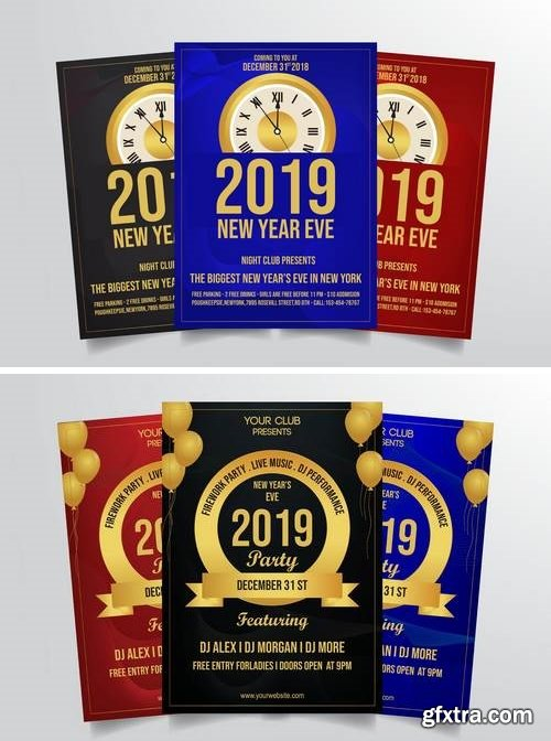 New Years Eve Flyer Template Bundle