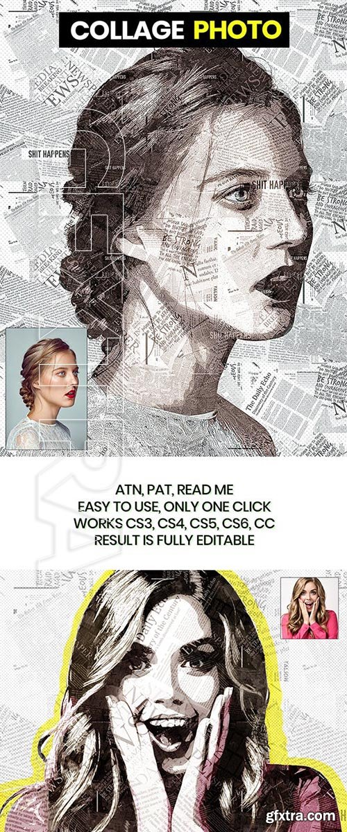 GraphicRiver - Collage Photo PS Action 22889259