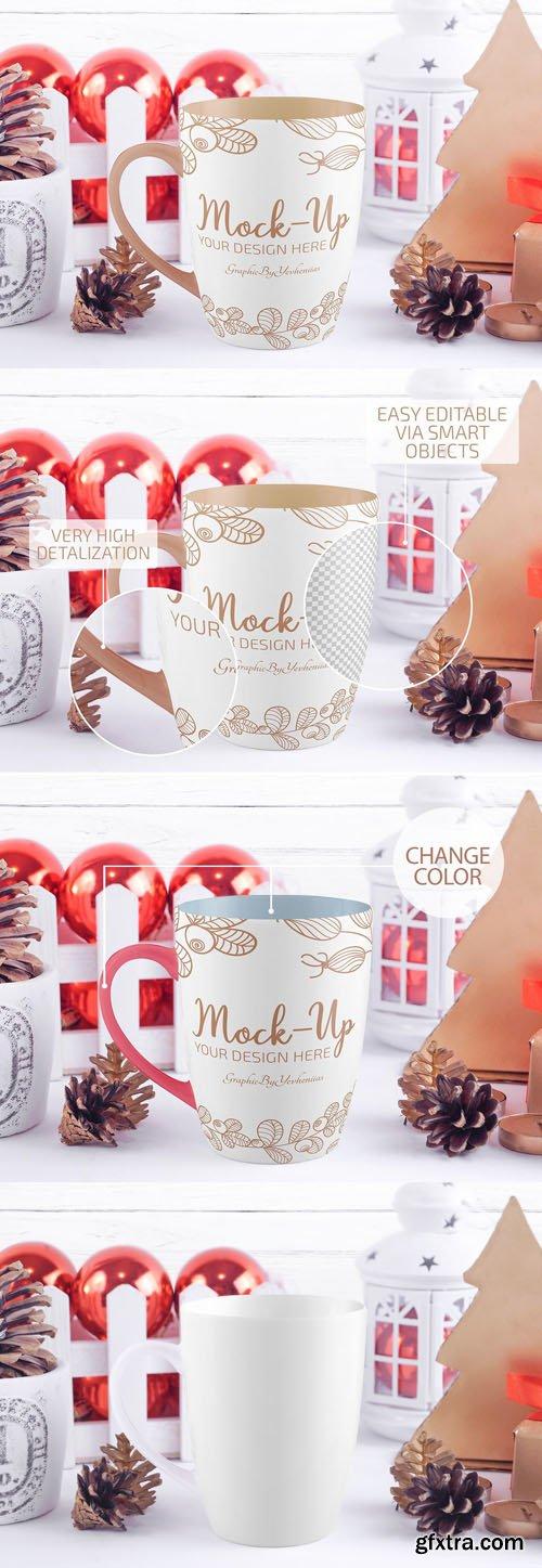 Christmas Mug PSD Mockup