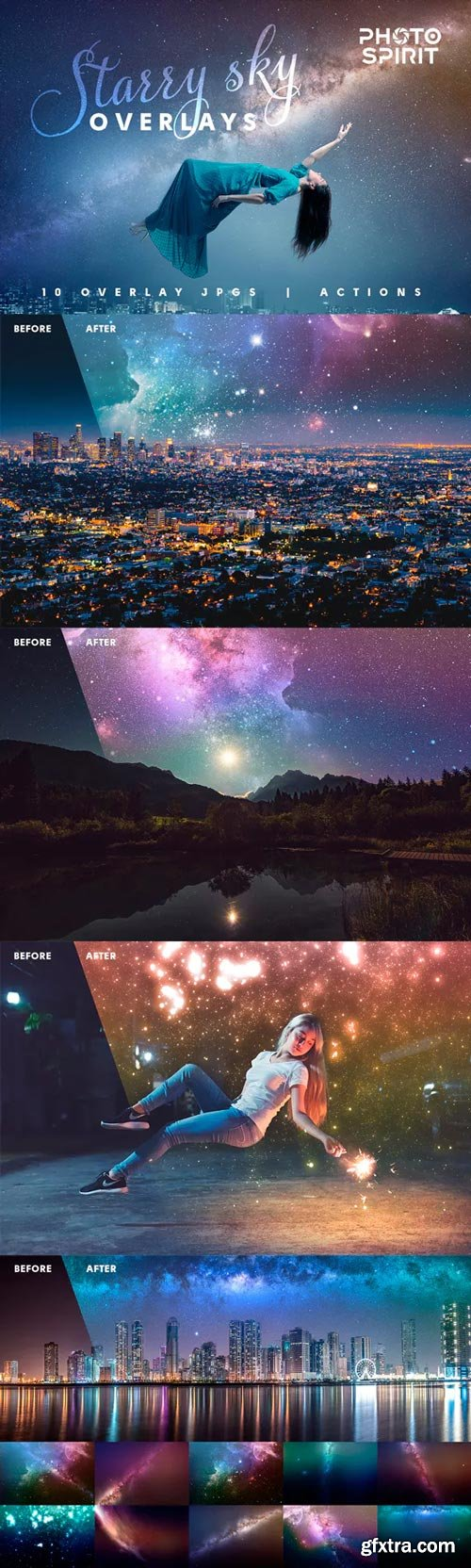 GraphicRiver - Night Sky Starry Overlays + Actions - 23023016