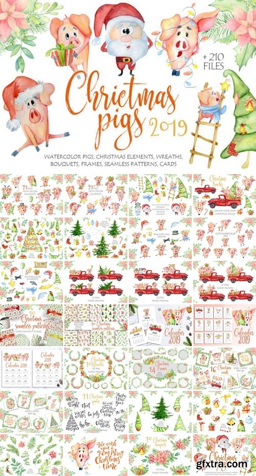 CF - Christmas cute pigs collection 845840