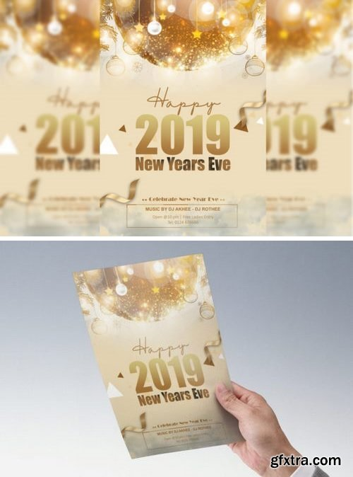 CF - New Year Flyer gold 845677