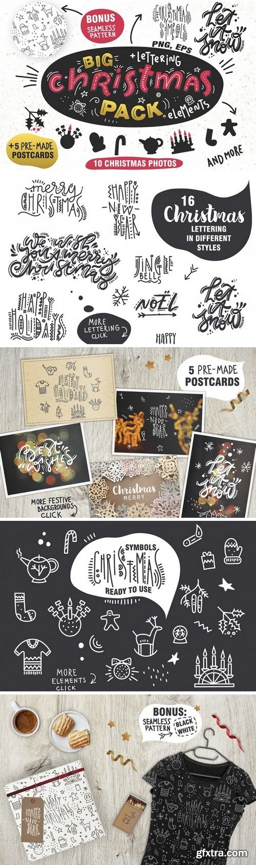 Thehungryjpeg - Big Christmas Pack 94683