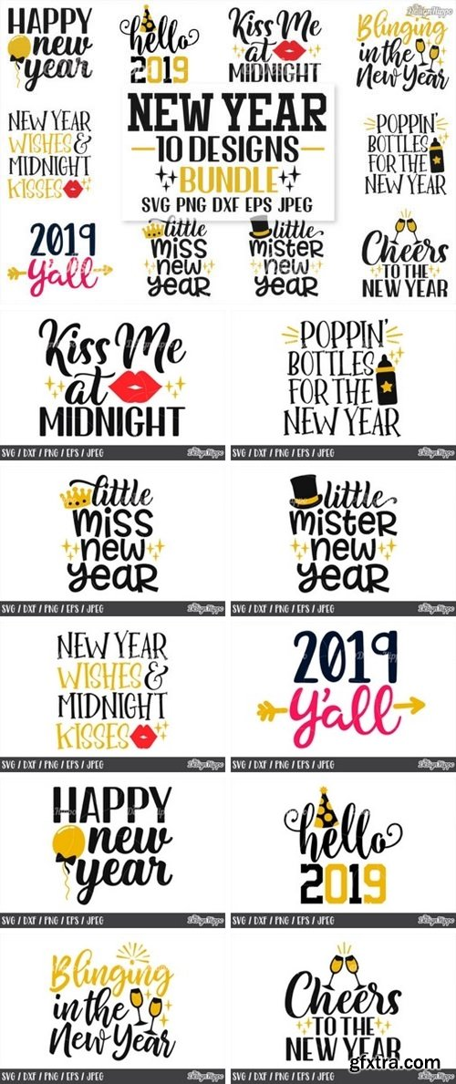 CF - New Year's Eve SVG Bundle 837175