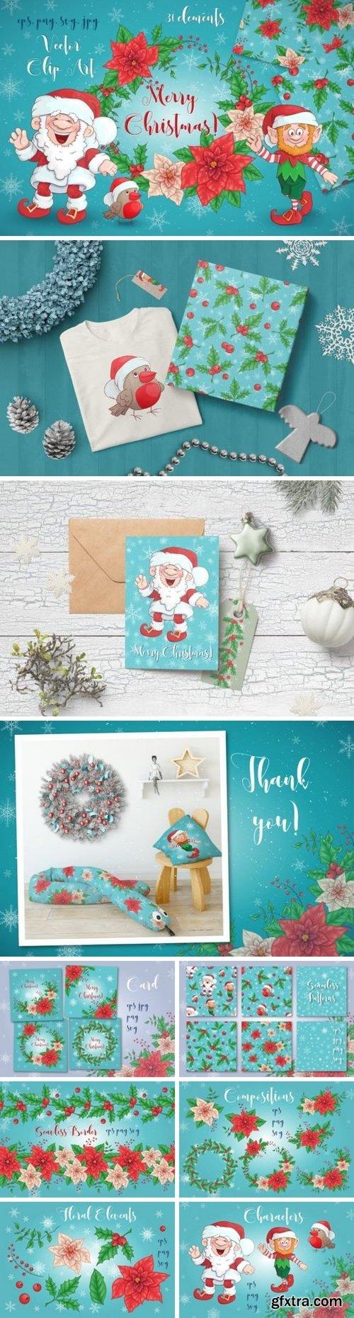Thehungryjpeg - Merry Christmas Bundle 4 3504683