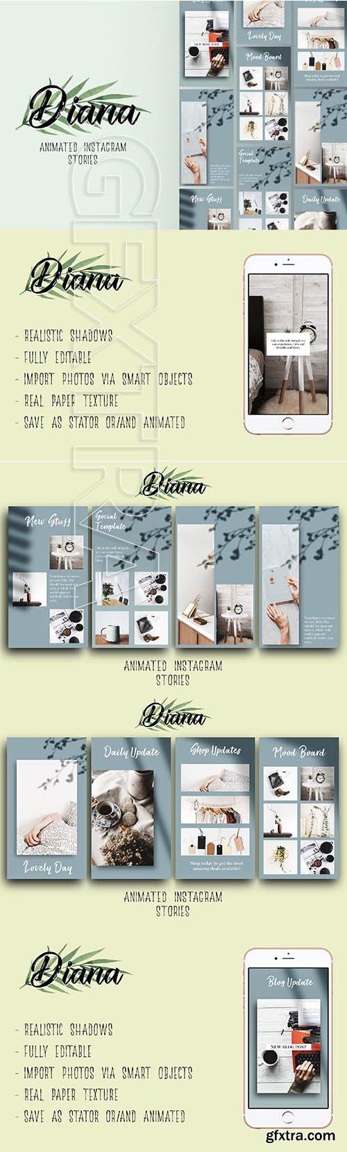 CreativeMarket - Diana Animated Instagram Stories 3275228