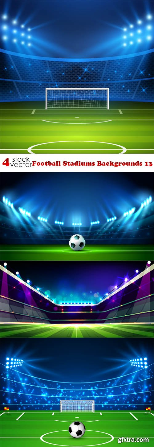 Vectors - Football Stadiums Backgrounds 13