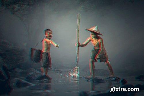 CM - Anaglyph 3D Photoshop Actions 1260795