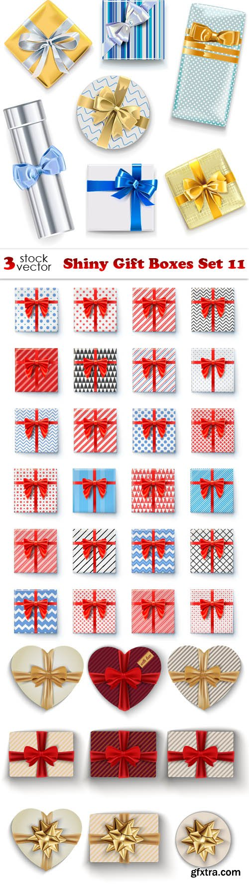 Vectors - Shiny Gift Boxes Set 11
