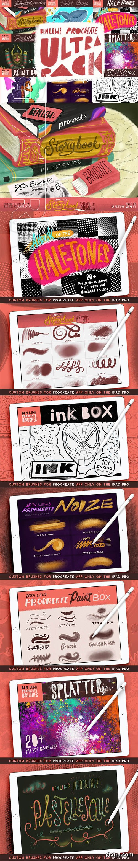 CreativeMarket - Ben Lews Procreate Ultrapack 3207814