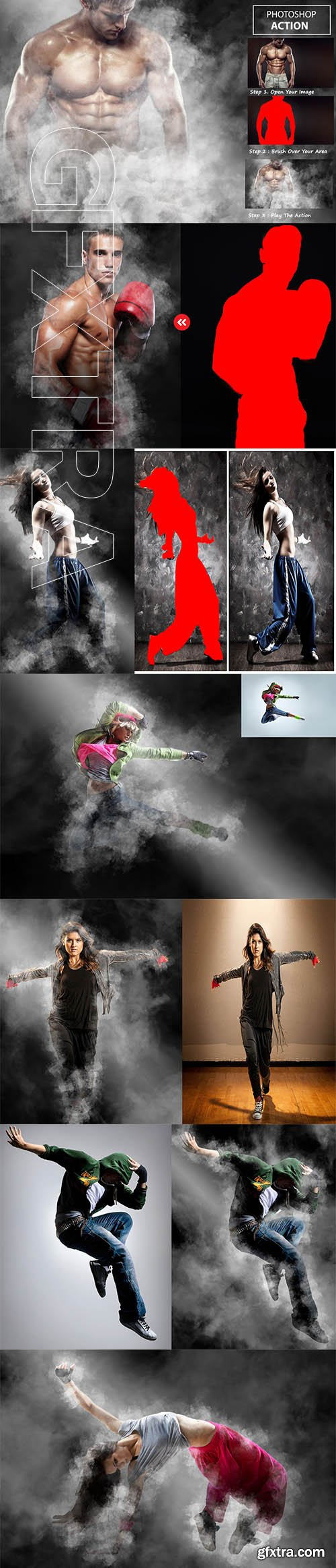 CreativeMarket - Smoke Effect - Photo shop Action 3211481