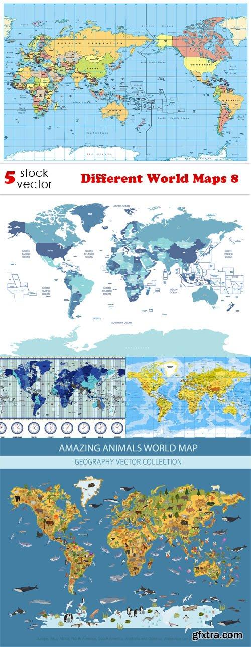 Vectors - Different World Maps 8