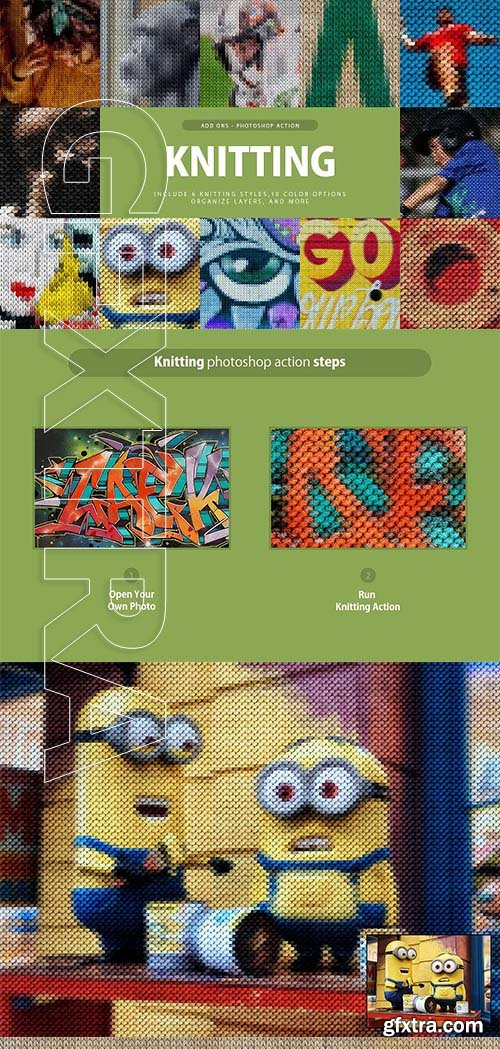 CreativeMarket - Knitting Photoshop Action 3292963
