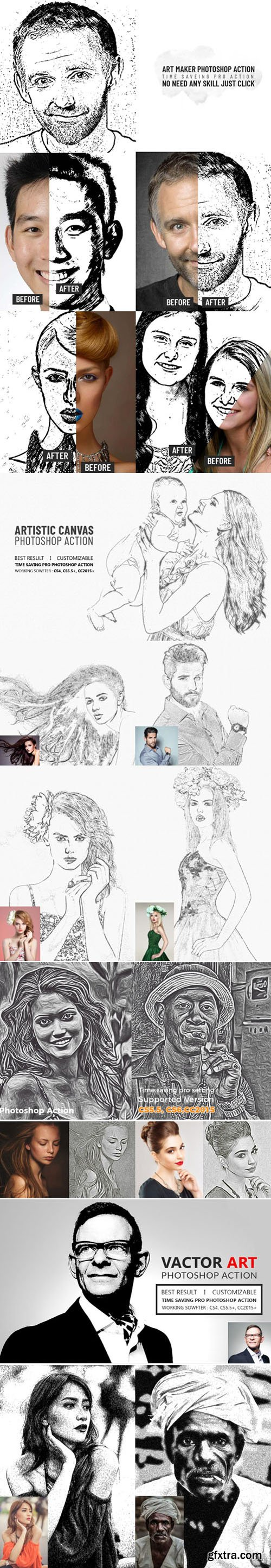 Drawing Art Photoshop Actions Collection