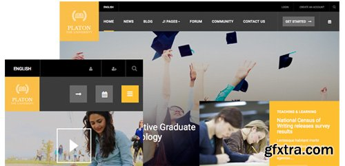 JoomlArt - JA Platon v1.0.8 - Responsive Joomla Template For Universities & Colleges