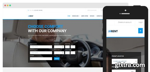 JoomlArt - JA Rent v1.0.7 - Responsive Joomla template For Vehicles Rental Service